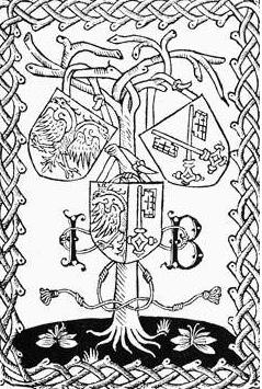 Les armoiries de Genève apparaissent dès le XVe siècle. Leur représentation actuelle a été fixée par le Conseil d'Etat en 1918. Elles représentent la réunion des symboles de l'Empire (l'aigle à tête couronnée), auquel Genève a été rattachée au XIe siècle, et de l'évêque (la clef d'or) dont les citoyens tiennent leurs libertés et franchises depuis 1387. Le cimier est un soleil apparaissant à demi sur le bord supérieur et portant le trigramme IHS en lettres grecques, reproduction du nom de Jésus sous une forme contractée (IHESUS). Les anciennes couleurs de Genève étaient le gris et le noir. Au XVIIe siècle, le noir et le violet. Le jaune et le rouge prévalurent au XVIIIe siècle; le noir fut ajouté durant la période révolutionnaire. La devise de Genève, «Post tenebras lux» (Après les ténèbres la lumière), date du milieu du XVIe siècle. Elle fait référence à la Réforme.