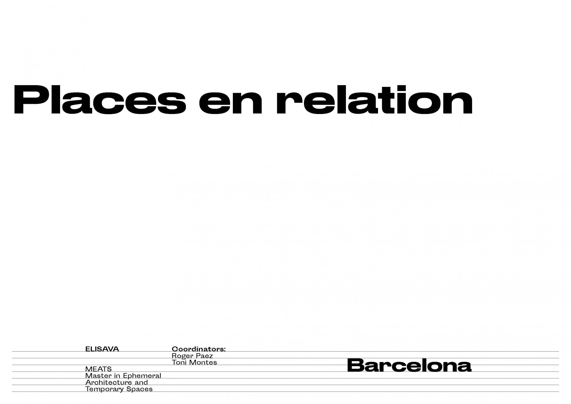 Places en Relation Barcelone
